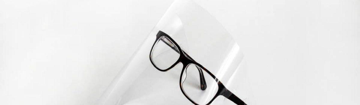 Visiera protettiva fai da te per occhiali