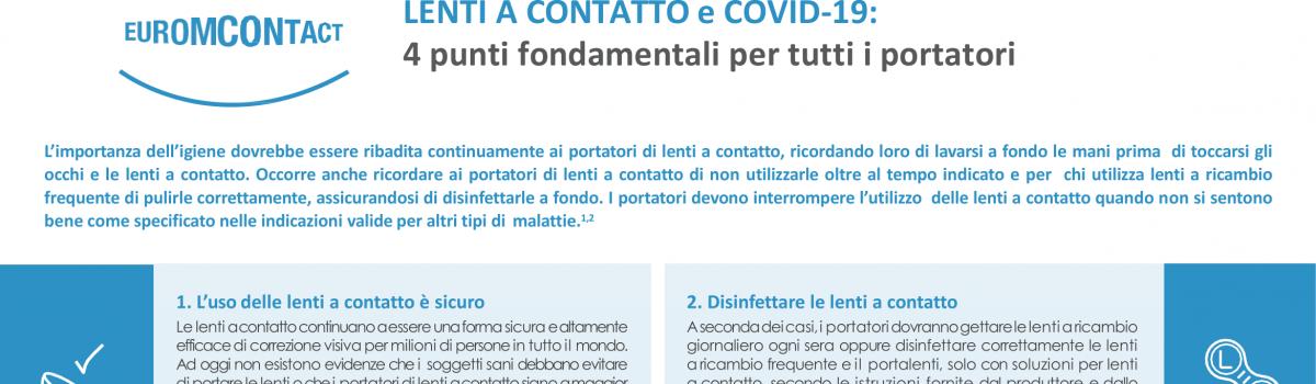 Lenti a contatto e COVID-19